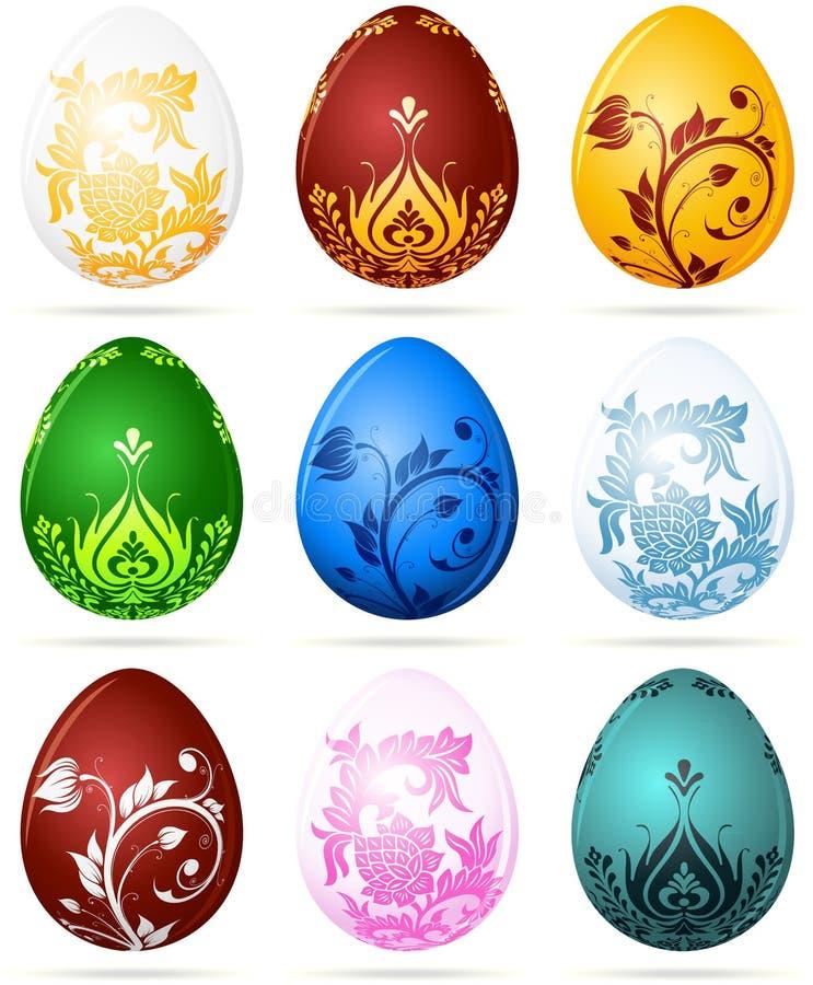 Download Set of Easter eggs stock vector. Illustration of decoration - 19320280