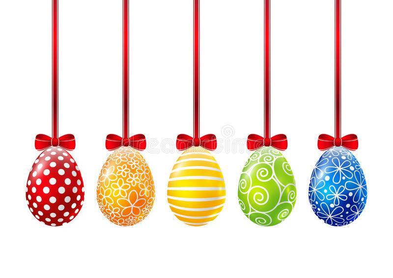 Set of Easter eggs stock illustration