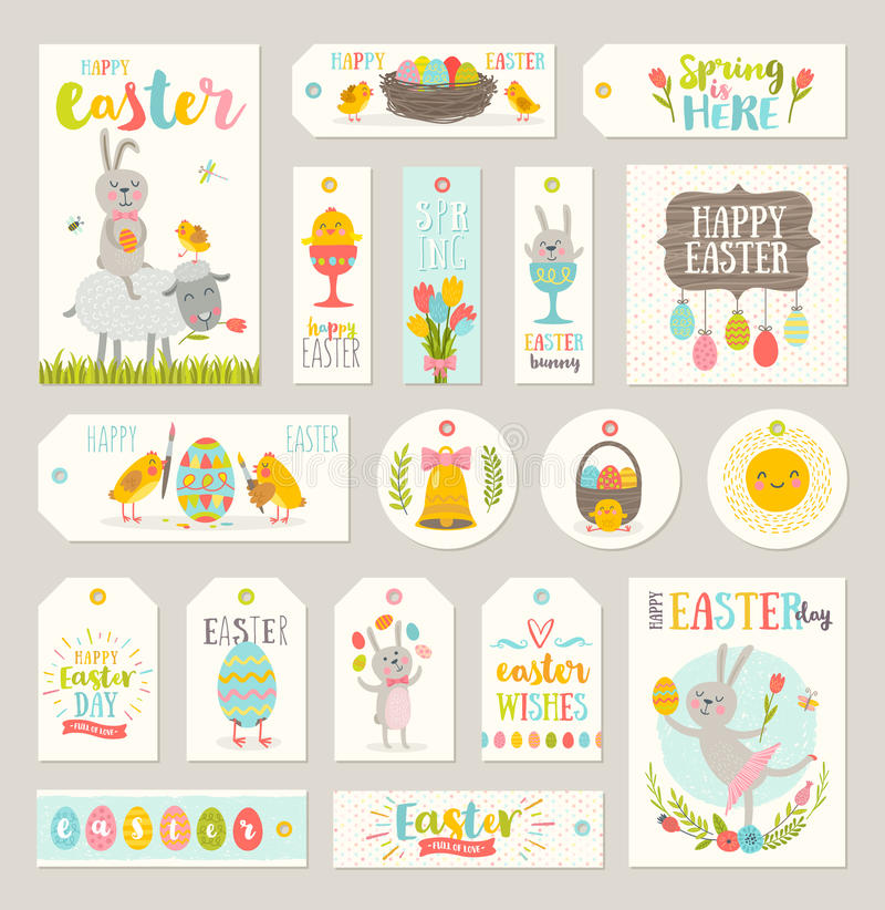 Set of easter gift tags and labels stock vector illustration of download set of easter gift tags and labels stock vector illustration of christianity basket negle Gallery