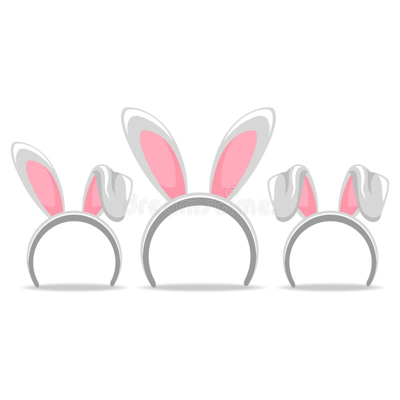 Set of Easter Hair Band Bunny royalty free illustration