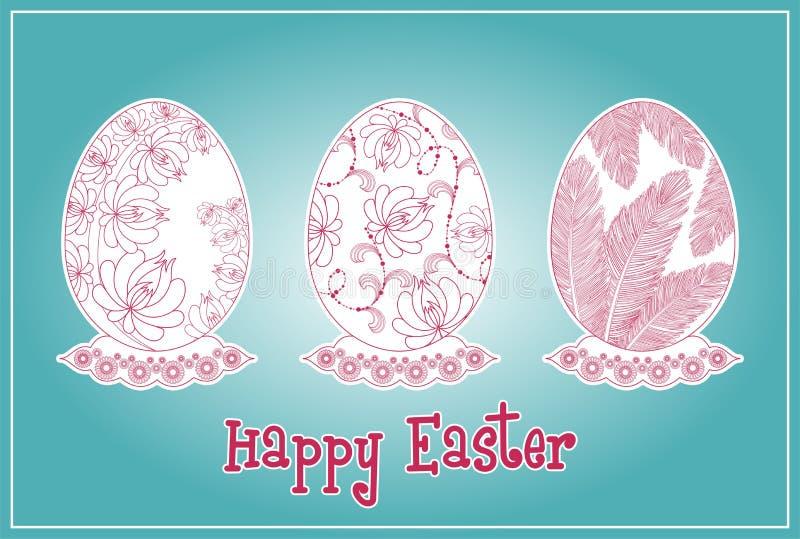 Set Easter jajka ilustracja wektor