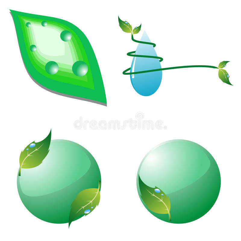 Set Of Eco Icons. Vector Illustration Stock Photography