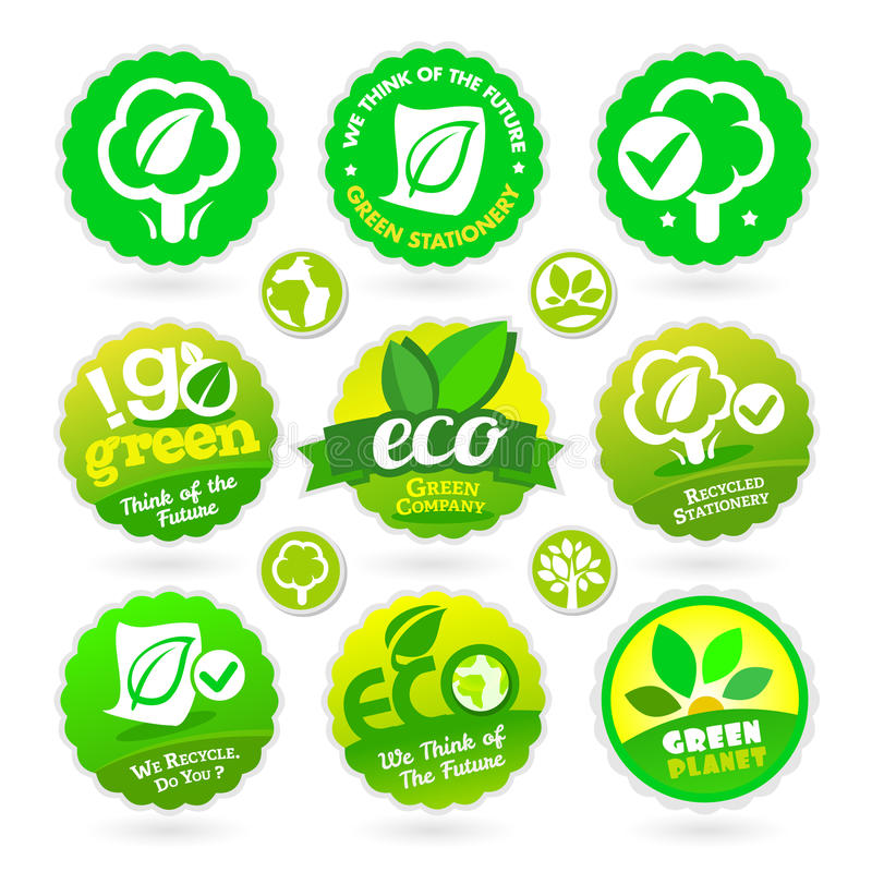 Download Set Of Eco - Recycle - Green Icons Stock Photography - Image: 32030652