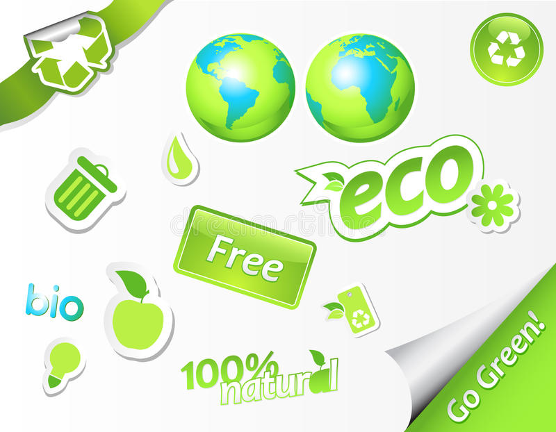Download Set of ecology icons. stock vector. Illustration of creative - 12443205