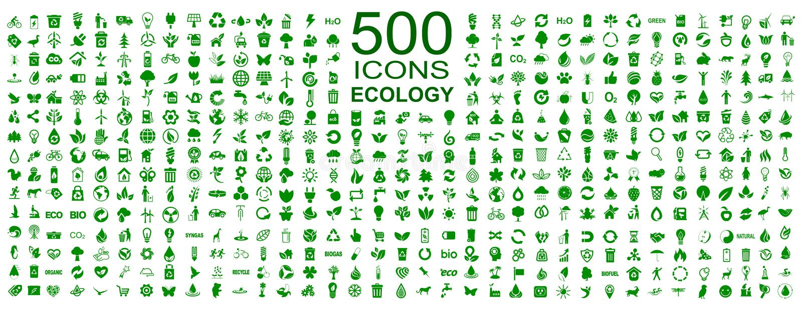 Set of 500 ecology icons - vector stock photo