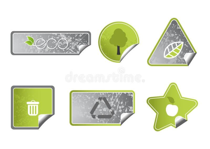 Set of ecology labels. Vector. Art royalty free illustration