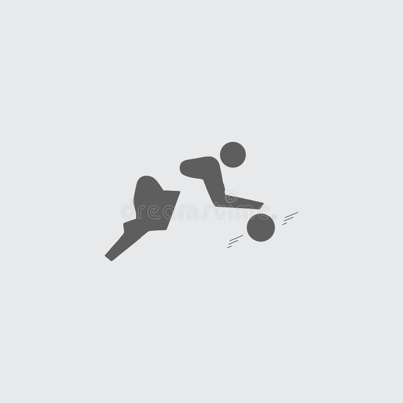 Black white basketball player icon with ball. vector illustration