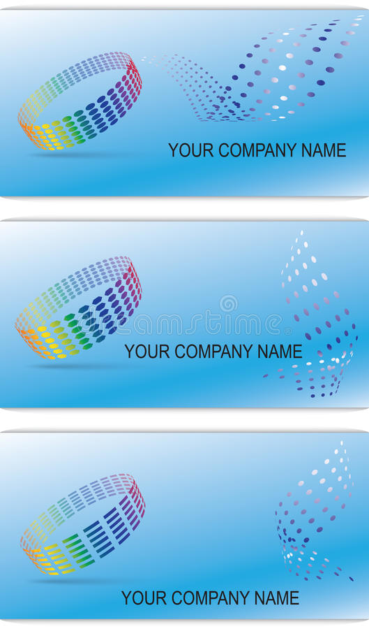 Download Set Of Editable Business Cards Royalty Free Stock Photo - Image: 24008935