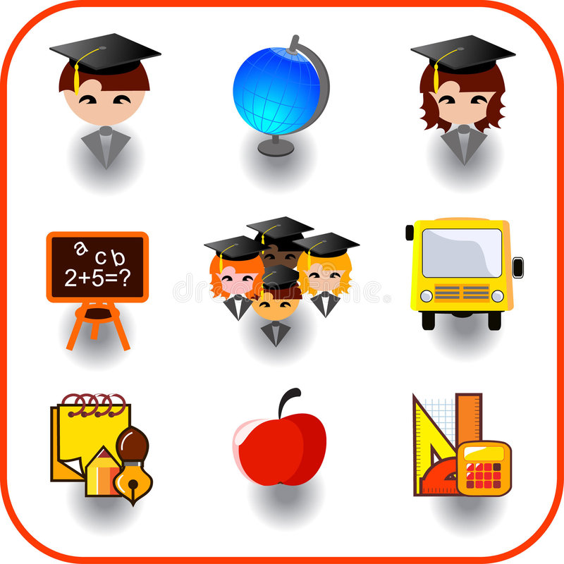 Download Set Of Education Royalty Free Stock Photos - Image: 7131628