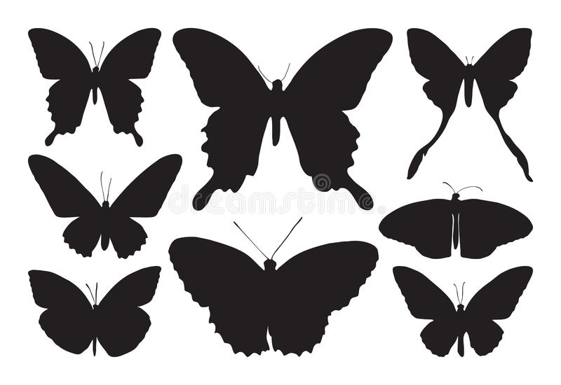 Black butterfly icon isolated on white background vector illustration