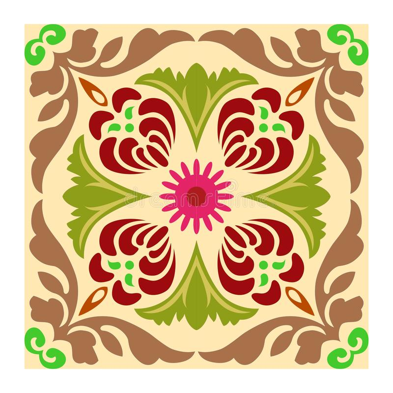 Set of eight colorful floral patterns seamlessly tiling.Seamless pattern can be used for wallpaper, pattern fills, web page royalty free illustration