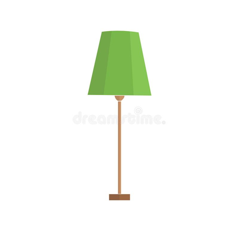 A set of electric lamps. Furniture and floor lamps and table lamps. home interiors fixtures. vector illustrations. Floor lamps and table lamps home energy stock illustration