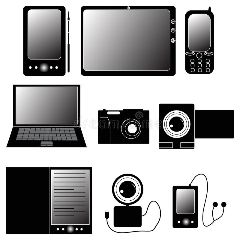Download Set Of Electronic Devices Icons Royalty Free Stock Photo - Image: 22552165