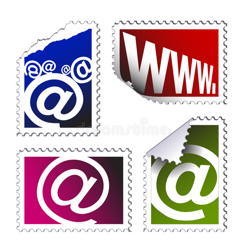 Download Set Of Electronic Post Stamps Stock Vector - Image: 7087132