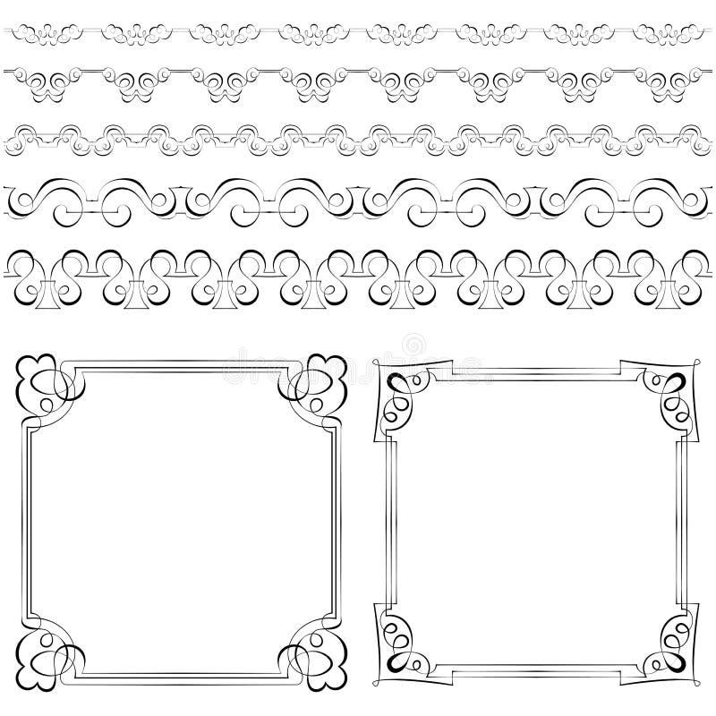 download set of elegant frames and borders stock vector image 43677400 - Elegant Frames