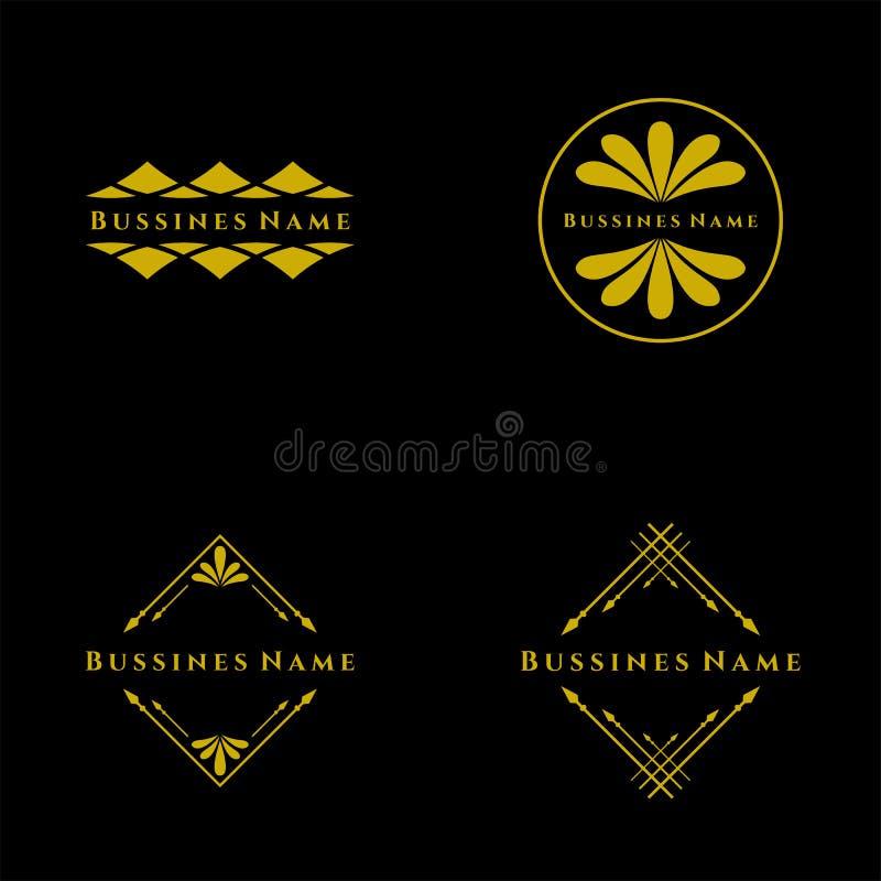 Set of Elegant retro flourish decor. Retro Vintage Insignias or Logotypes. Vector design elements, business signs, logos, label. Elegant retro flourish decor royalty free illustration