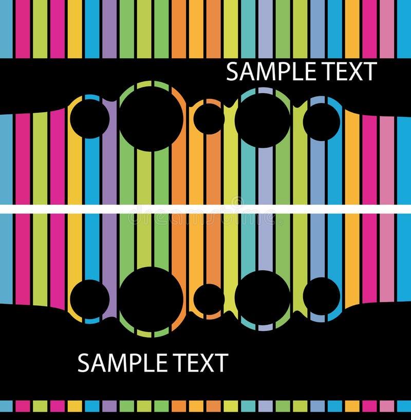 Set elegante abstrakte Geschäftshintergründe stock abbildung