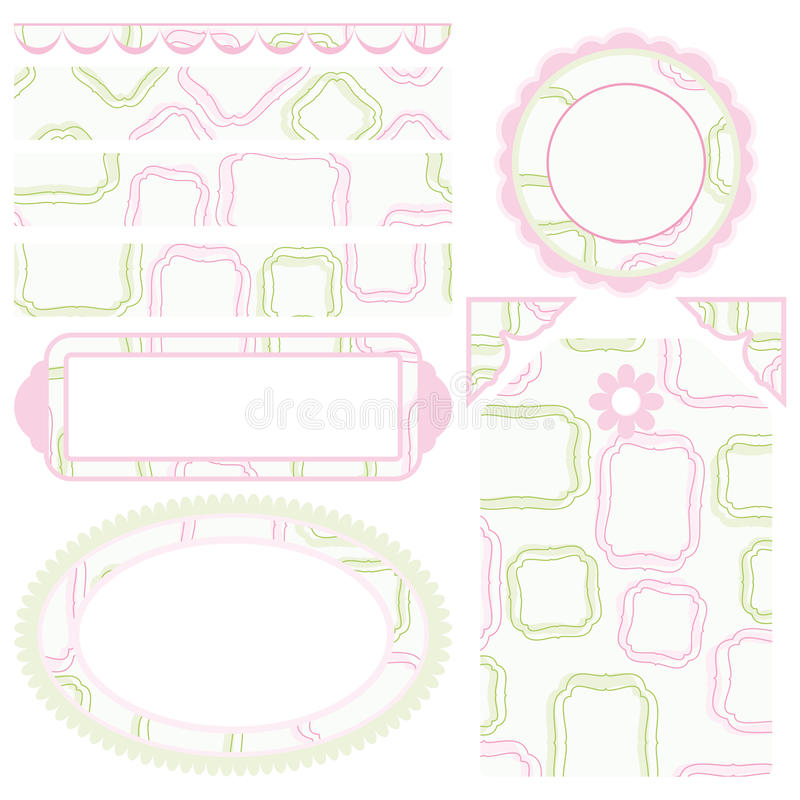 Set of elements for design. stock photos