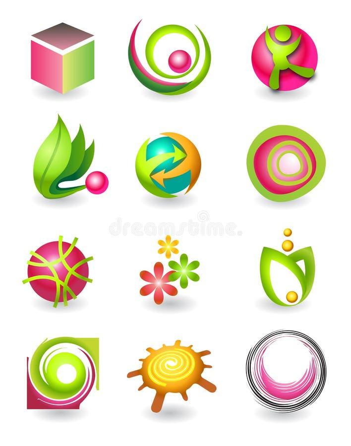 Set of elements for design stock illustration