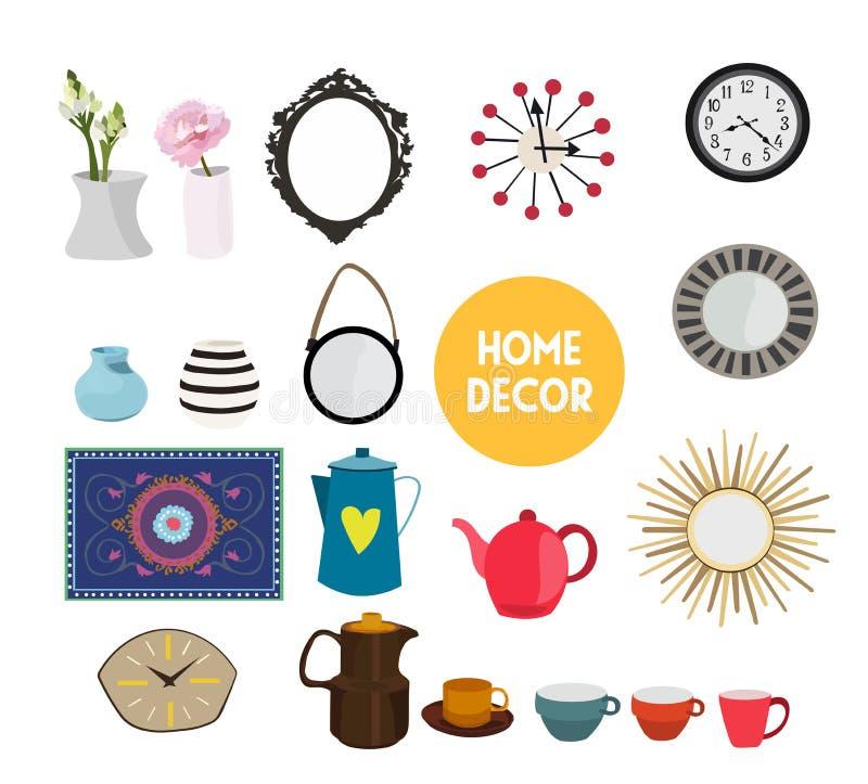 Download Home Decor Vector Elements Set Collection. House Interior Design.  Stock Vector   Illustration