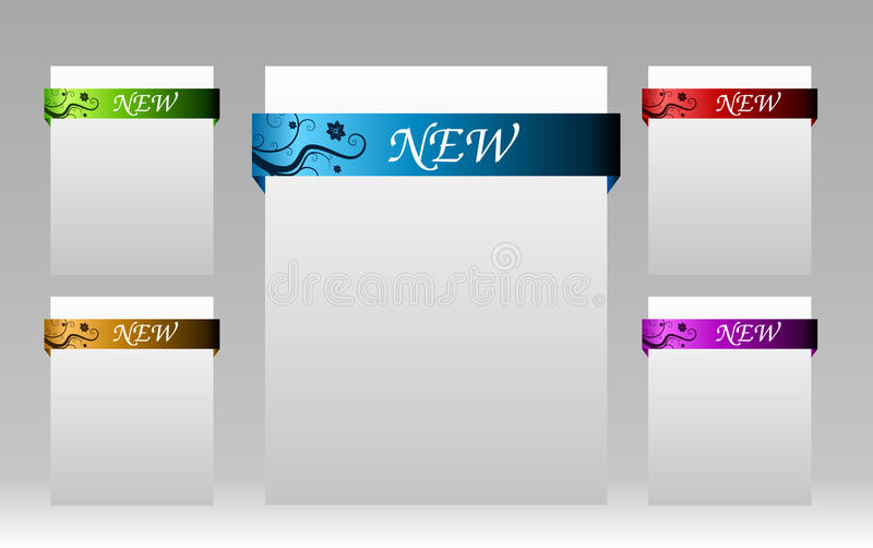 Set Of Elements For New Items In Eshop Or On Royalty Free Stock Image