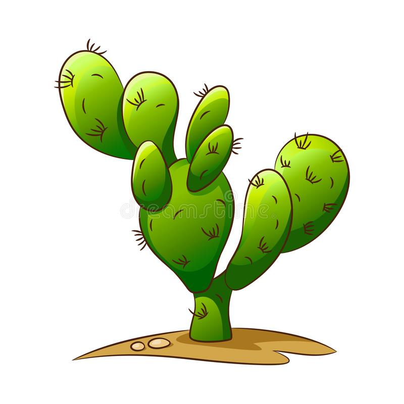 Set of elements of the Wild West. Cactus. vector illustration