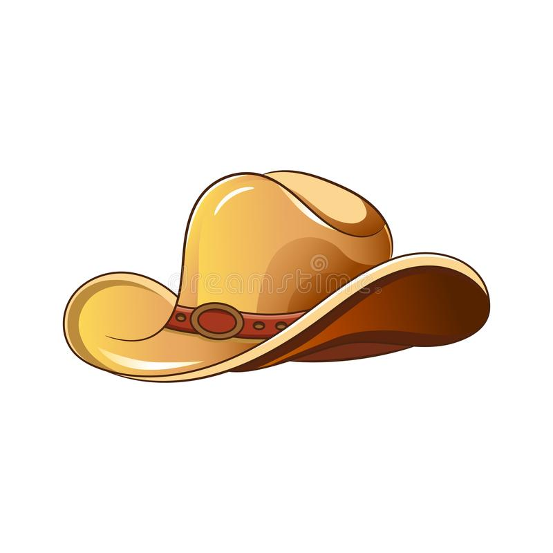Set of elements of the Wild West. The equipment of cowboys. Cowboy hat. stock illustration