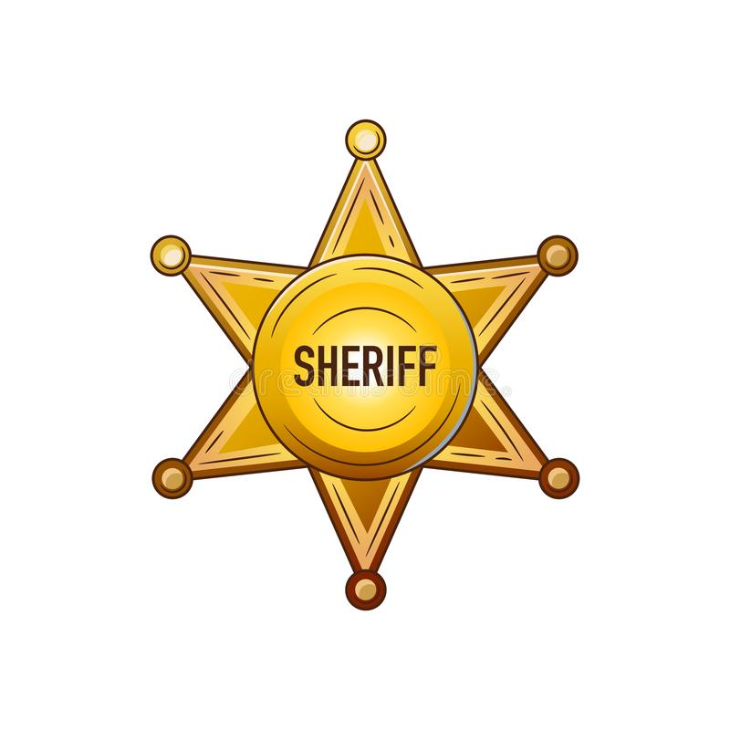 Set of elements of the Wild West. The equipment of cowboys. Sheriff star. vector illustration
