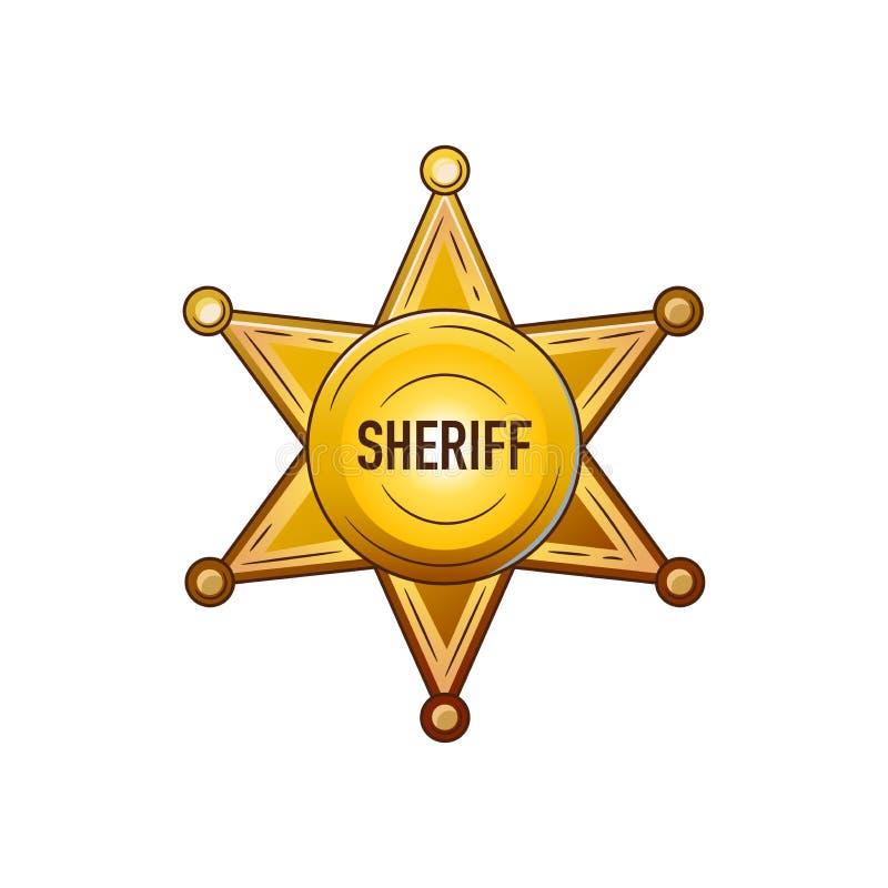 Set elementy Dziki zachód wyposażenie kowboje Szeryf gwiazda ilustracja wektor