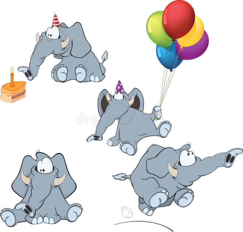 Download Set of elephants cartoon stock vector. Image of festive - 38684725