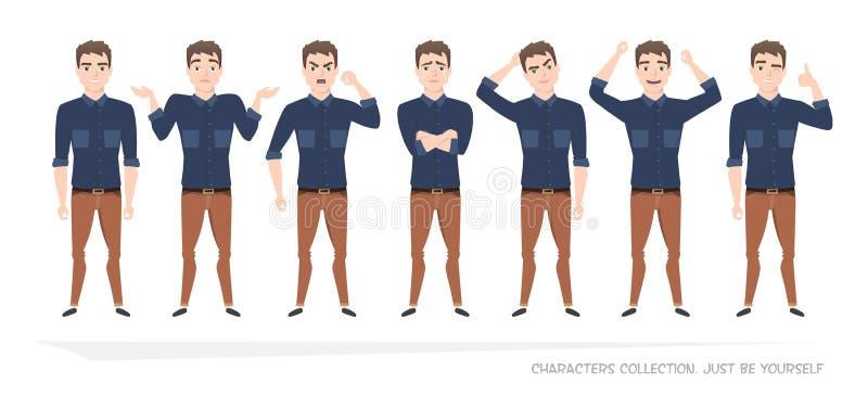 Set emocje dla biznesowego mężczyzna