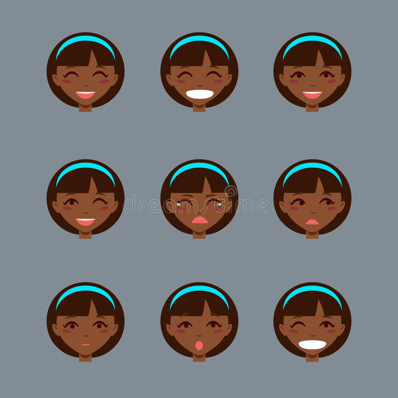 Set emocjonalny charakter ilustracji
