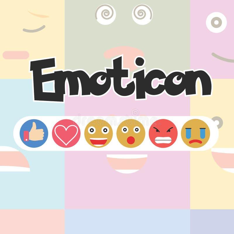 Set of Emoticon, Social media reactions - Vector royalty free illustration