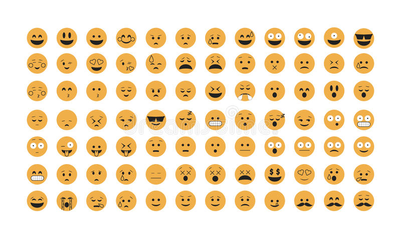 Set of Emoticon vector. vector illustration