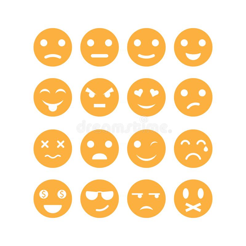 Set of emoticon vector icon illustration stock illustration