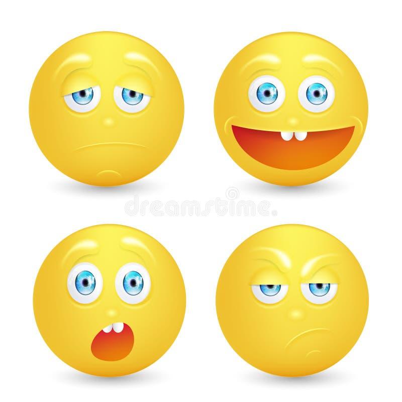 Set of emoticons. royalty free illustration