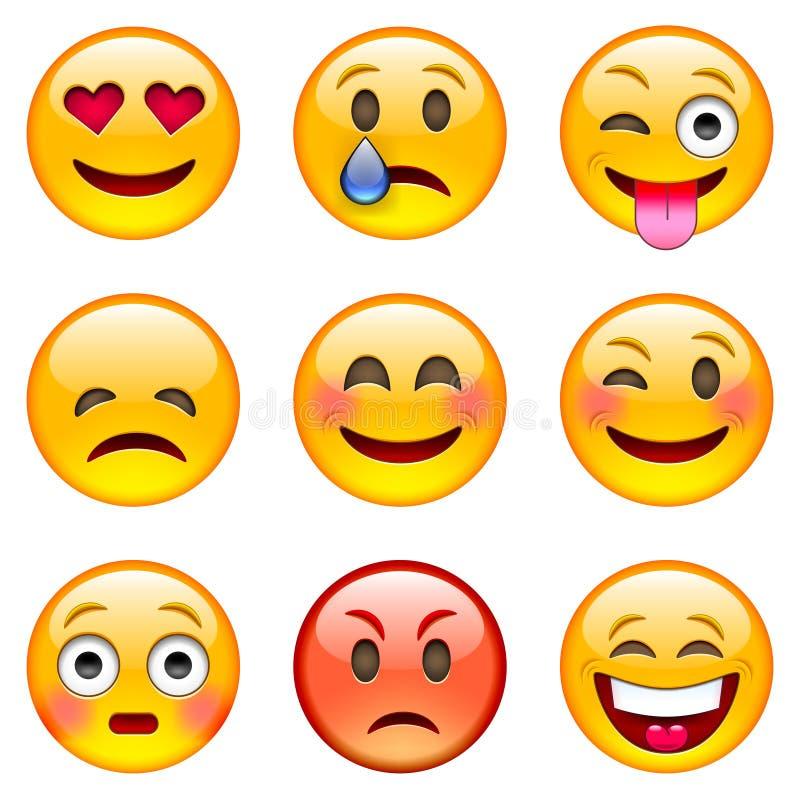 Set Emoticons stockfotografie