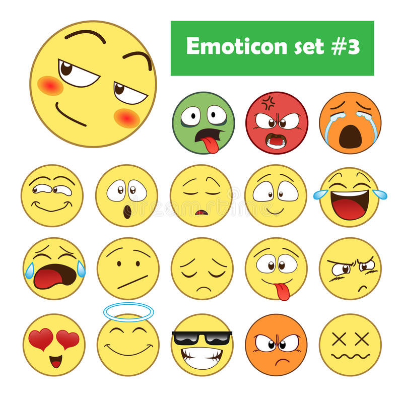 Set of Emoticons. royalty free stock photography