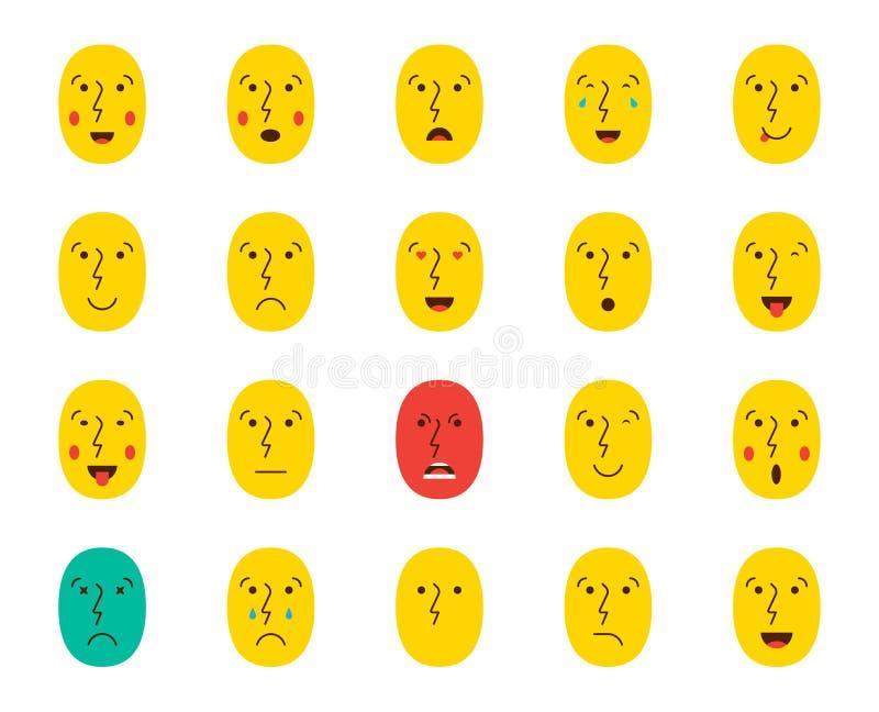 Set Emoticons lub Emoji również zwrócić corel ilustracji wektora royalty ilustracja