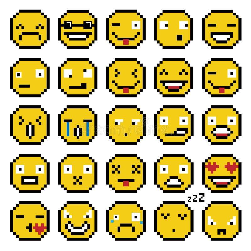 Pixel Emoji Stock Illustrations 1 136 Pixel Emoji Stock