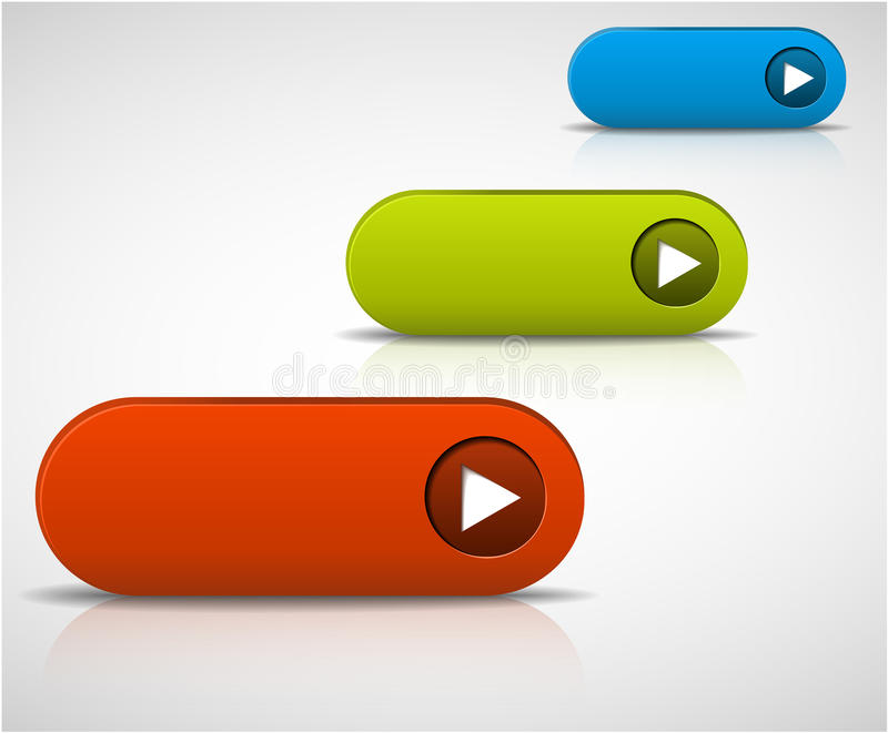 Set of empty buttons stock illustration