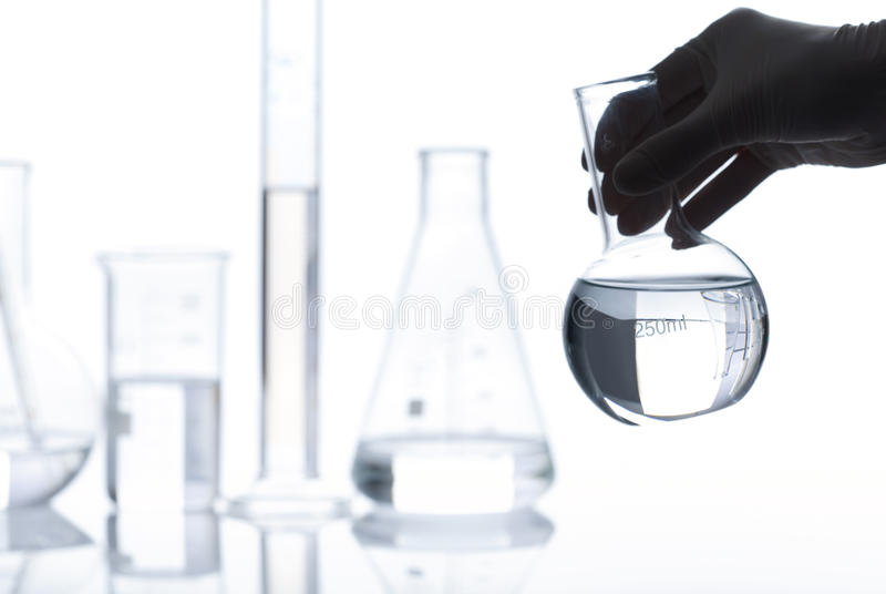 Download Set Of Empty Laboratory Flasks Royalty Free Stock Photos - Image: 25203948