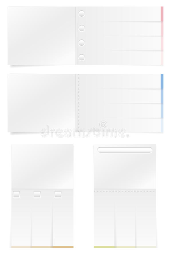 Set Of Empty Paper Card Stock Image