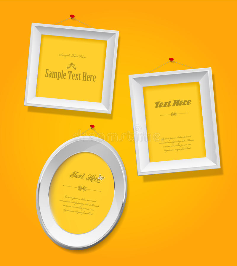 Download Set Of Empty Picture Frames Stock Vector - Illustration: 26983171