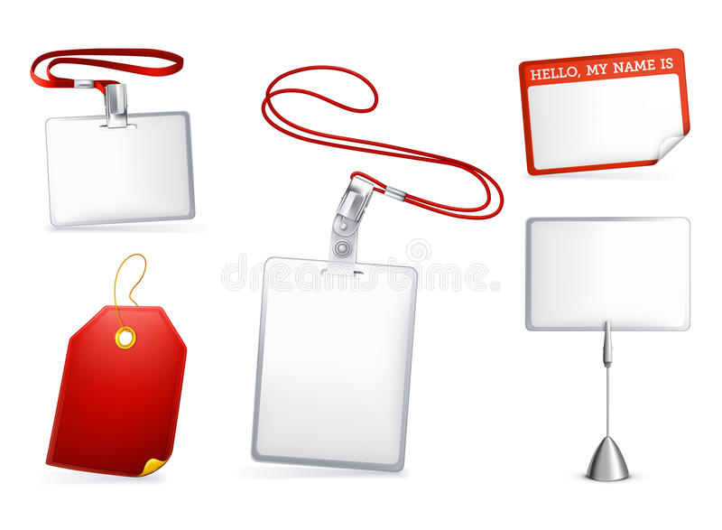 Set of empty tags stock illustration