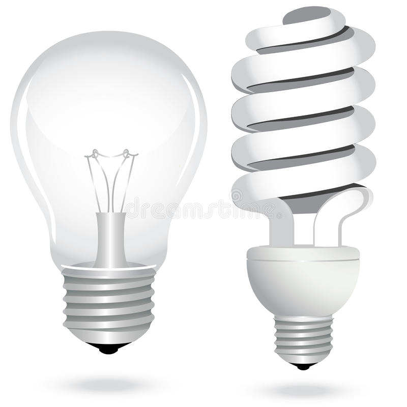 Set energy saving light bulb lamp electricity vector illustration
