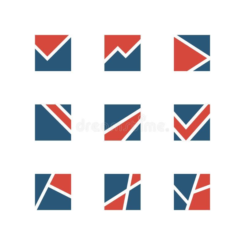 set enkelt för logo royaltyfri illustrationer