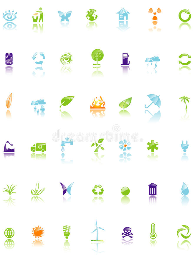 Download Set of environment icon stock vector. Image of concept - 11478354