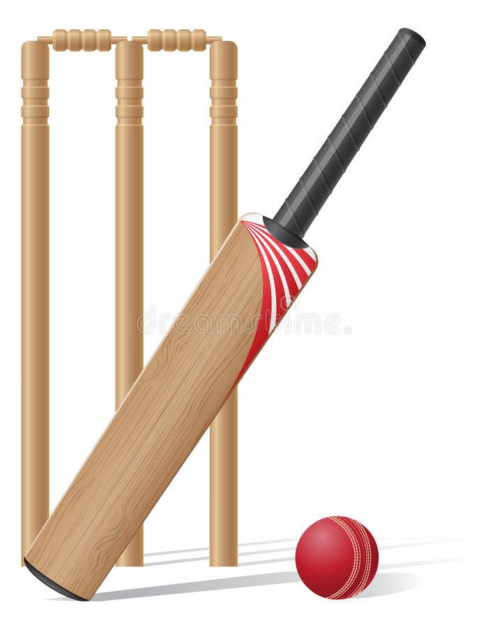 Free Set Equipment For Cricket Vector Illustration Stock Photography - 32359962