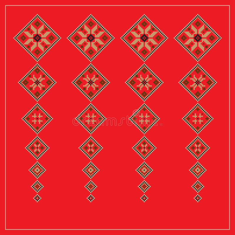Set of Ethnic ornament pattern in different colors. Vector illustration stock illustration